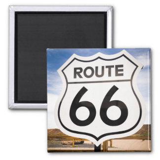 Verkehrsschild des Weges 66, Arizona Quadratischer Magnet