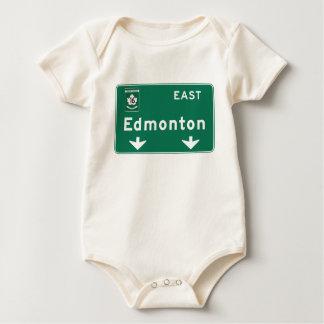 Verkehrsschild Edmontons, Kanada Baby Strampler
