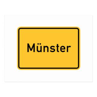 Verkehrsschild Munsters, Deutschland Postkarte