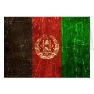 Verkratzte und getragene Vintage afghanische Karte