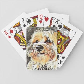 Verkupfern Sie die Morkie Spielkarten
