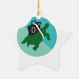 Verlangsamen Sie Staus Keramik Ornament