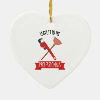 Verlassen Sie es Keramik Herz-Ornament
