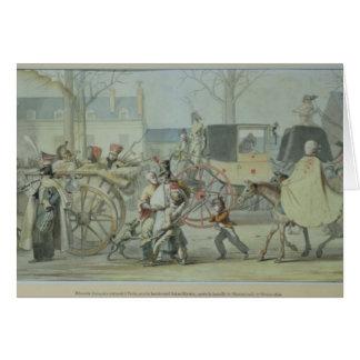 Verletzte französische Soldaten, die Paris Karte