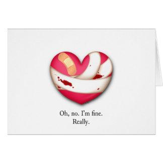 Verletzter Herz-Valentinsgruß Karte