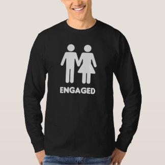 Verlobte Paare (weiße Silhouette) T-Shirt