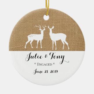 Verlobungs-Geschenk-Verlobungs-Verzierung - Keramik Ornament