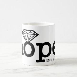 Verlobungs-Hoffnung - Diamant-Ring Tasse