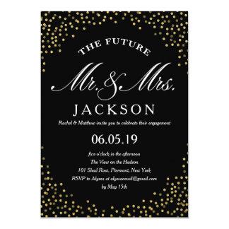 Verlobungs-Party der GoldGlitterconfetti-Zukunft-  12,7 X 17,8 Cm Einladungskarte