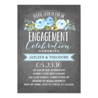 Verlobungs-Party der Tafel-Verlobungs-| 12,7 X 17,8 Cm Einladungskarte