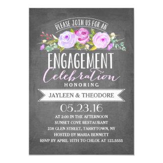 Verlobungs-Party der Tafel-Verlobungs-  12,7 X 17,8 Cm Einladungskarte