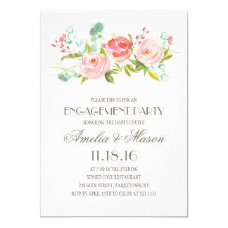 Verlobungs-Party des Rosen-Garten-  12,7 X 17,8 Cm Einladungskarte