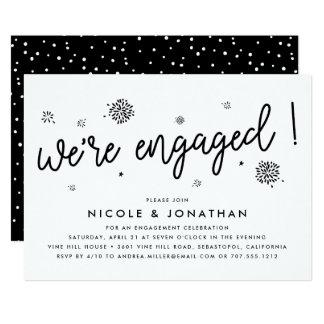 Verlobungs-Party Einladung der Feuerwerk- 