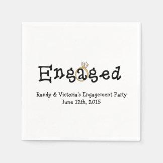 Verlobungs-Ring-Verlobungs-Party-Papierservietten Servietten