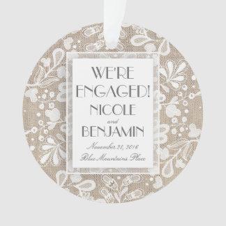 Verlobungs-Spitze und Leinwand elegant Ornament