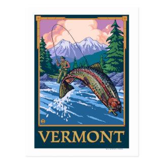 VermontAngler Fischer-Szene Postkarte