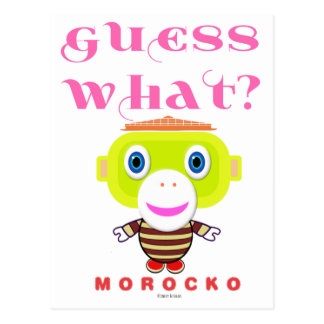 Vermutung Was-Niedlicher Affe-Morocko Postkarte