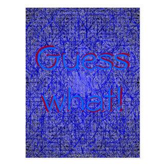 Vermutung welcher blaue Thatch Postkarte