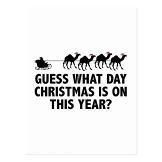 Vermutung, welches Tagesweihnachten auf diesem Postkarte