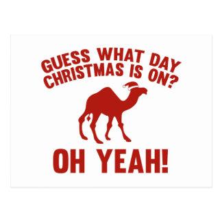 Vermutung, welches Tagesweihnachten eingeschaltet Postkarte