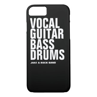 vernehmbar, Gitarre, Baß, Trommel… Felsen iPhone 8/7 Hülle