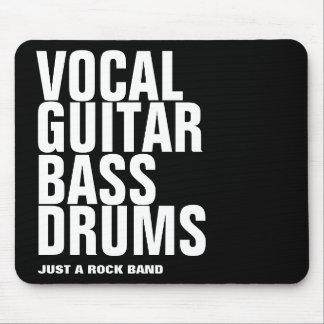 vernehmbar, Gitarre, Baß, Trommel… Felsen Mousepad