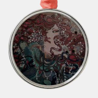 VeronicaWeaverakaVons Flügel des Schicksals Rundes Silberfarbenes Ornament