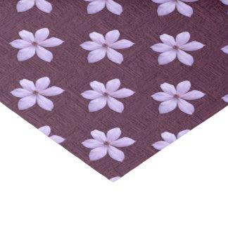 Verpackung Gewebe - lila Clematis Seidenpapier