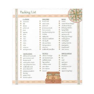 Verpackungs-Liste - Notizblock