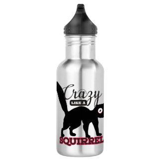 verrückt wie eine Eichhörnchenlustige Trinkflasche