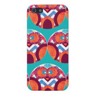 Verrückte Eulen-buntes Zickzack lila orange rosa Hülle Fürs iPhone 5