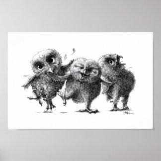 Verrückte Eulen - Crazy Owls Poster