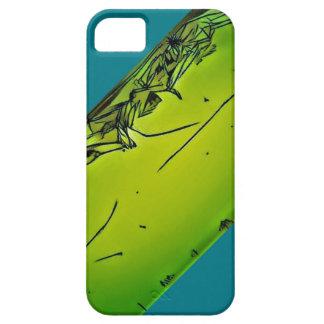 verrückte grüne einzigartige iphone Linie Barely There iPhone 5 Hülle