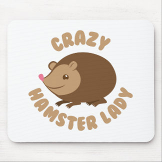 verrückte Hamsterdame Mauspads