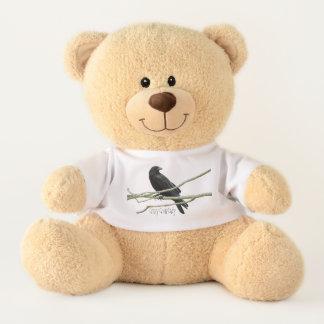 Verrückte Krähen-Dame Teddybär