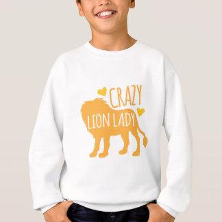 verrückte Löwedame Sweatshirt
