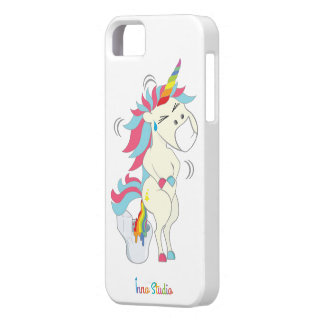 Verrückter Einhorn iPhone Fall iPhone 5 Etui