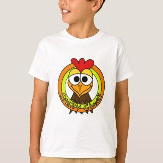 Verrückter Klemmen-Huhn-Kopf T-Shirt