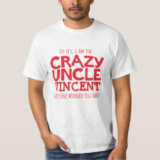Verrückter Onkel genannt roten typografischen T-Shirt