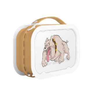 Verrückter verärgerter BulldoggeLunchbox Brotdose