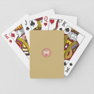 Verrücktes Gesichts-Spielkarten Spielkarten