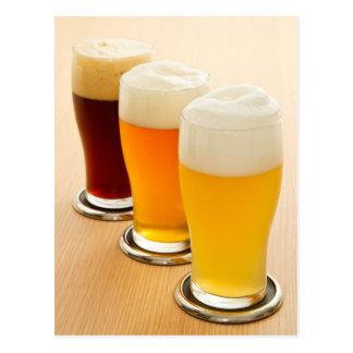 Verschiedene Arten des Bieres Postkarte