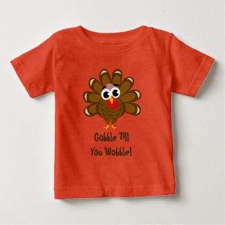 Verschlingen Sie bis Sie lustiger Truthahn Wobble Baby T-shirt
