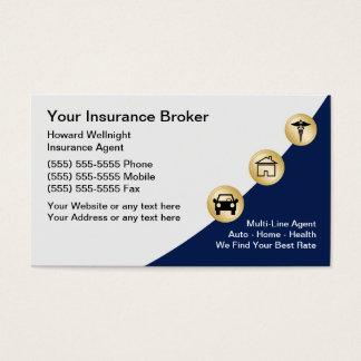 Versicherungsmakler-Visitenkarten Visitenkarte