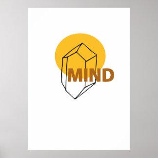 Verstand - abstrakte Crytal Kunst Poster