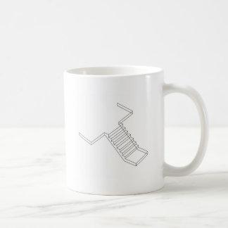 Verstärkte Zement-Betontreppe Kaffeetasse