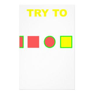 Versuchen Sie, dieses zu lösen: Personalisierte Druckpapiere