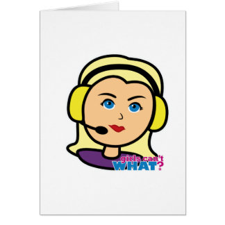 Versuchshauptlicht/Blondine Grußkarte