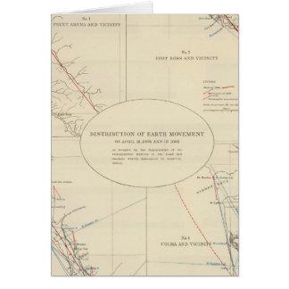 Verteilung der Erdbewegung in Kalifornien Karte