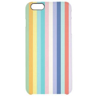 Vertikale Streifen-im Frühjahr Farben Durchsichtige iPhone 6 Plus Hülle
